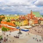 Stadsplein in Warschau, Polen