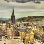 Uitzicht over Edinburg, Schotland