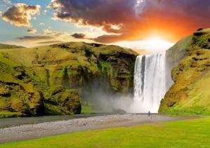 Waterval Skogafoss in IJsland