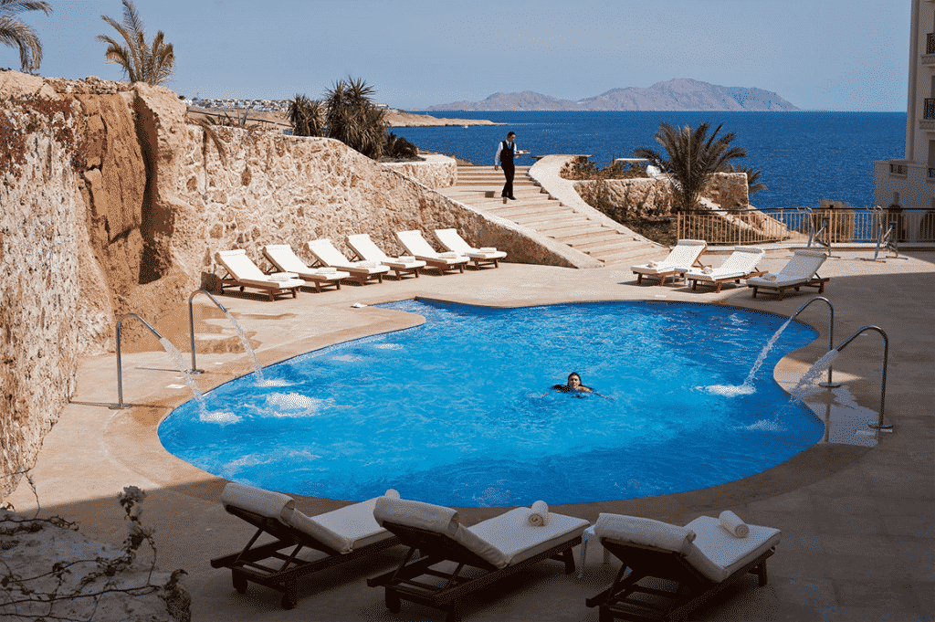 Zwembad van hotel Stella Di Mare Beach Resort en Spa in Egypte