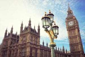 Big Ben and the houses of parliament in Londen, Engeland