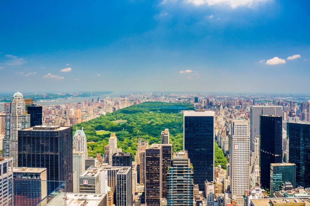 Uitzicht over Central Park in New York, Verenigde Staten