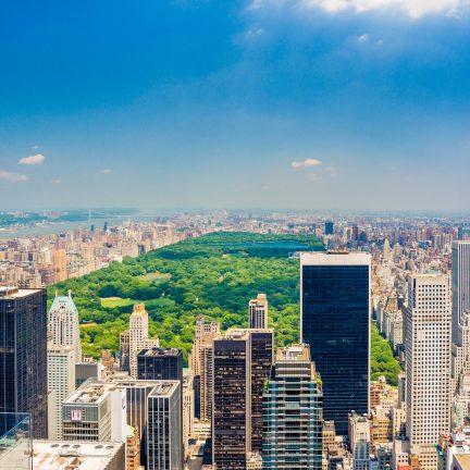 Uitzicht over Central Park in New York, Verenigde Staten
