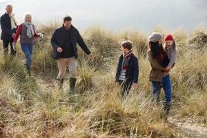 Familie in de duinen