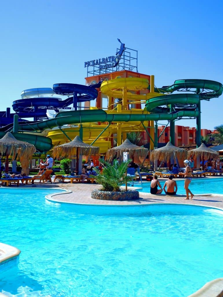 Glijbanen van Albatros Aqua Park Resort in Hurghada, Egypte