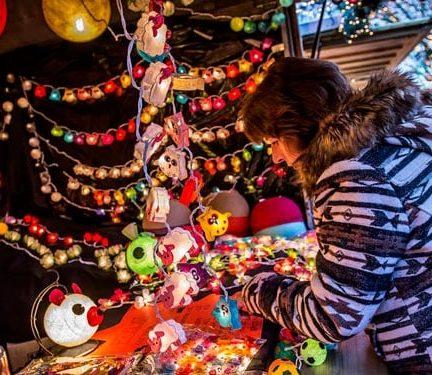 Kerstmarkt in Antwerpen, België