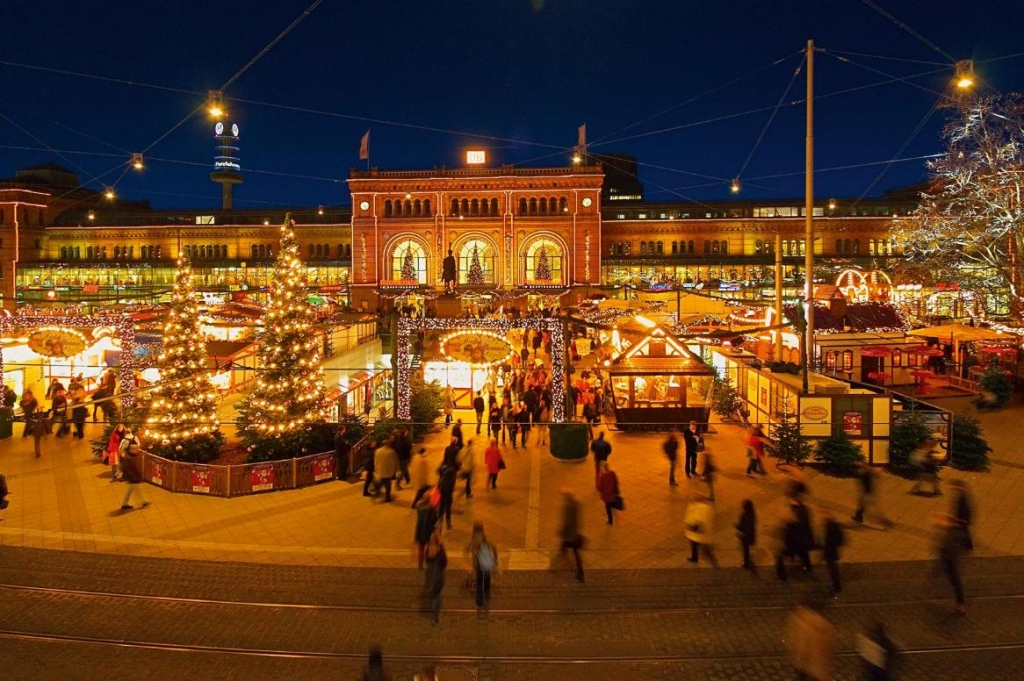 Kerstmarkt in Hannover, Duitsland