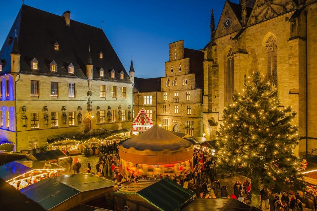 Kerstmarkt in Osnabrück, Duitsland