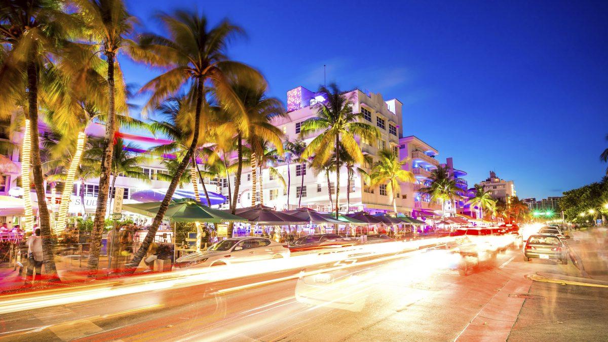 Ocean Drive in Miami, Florida, Amerika
