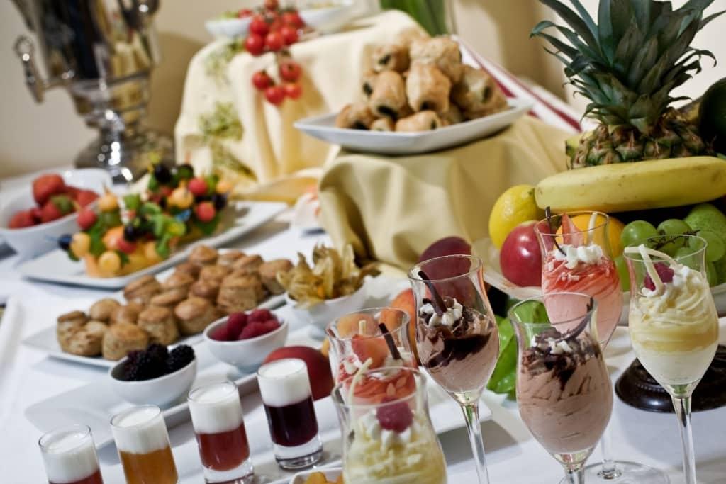 Ontbijt van Hotel Erzsebet in Boedapest, Hongarije