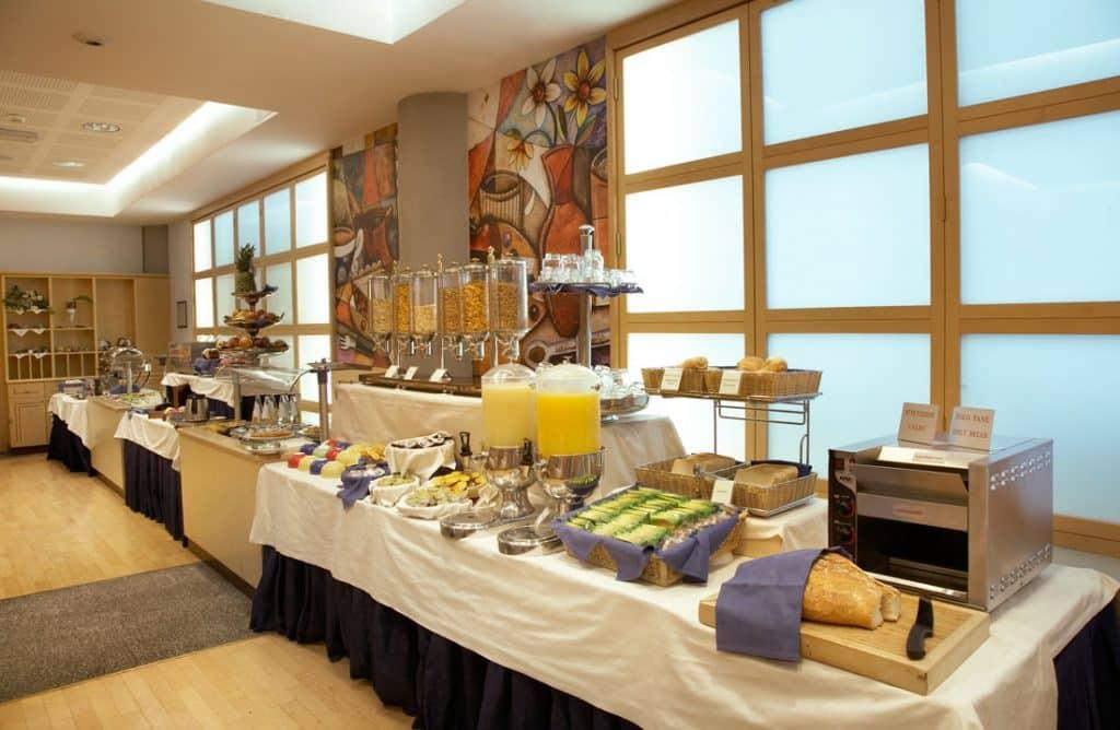 Ontbijt van Hotel Pacific Fortino in Turijn, Italië