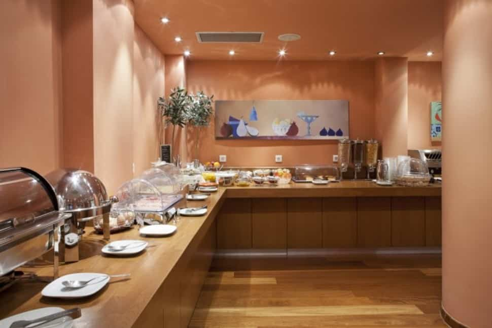 Ontbijtbuffet van Athens Center Square Hotel in Athene, Griekenland