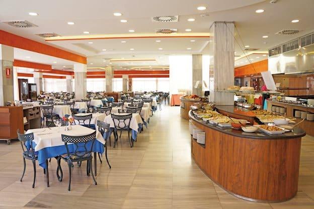 Restaurant van Hotel Troya in Playa de Las Americas, Tenerife