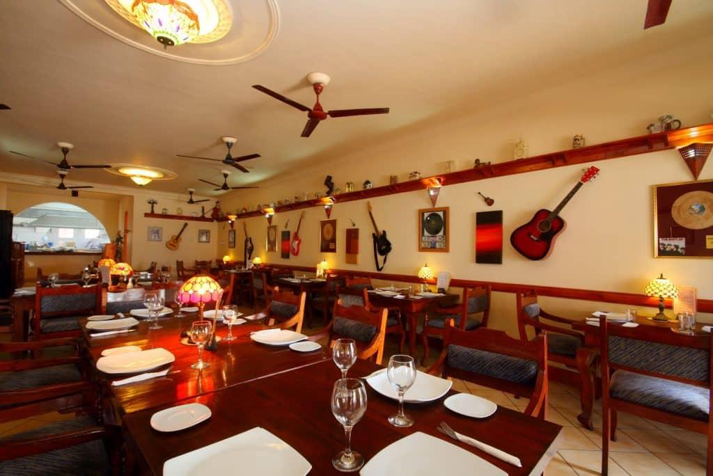 Restaurant van Paradise Holiday Village in Negombo, Sri Lanka