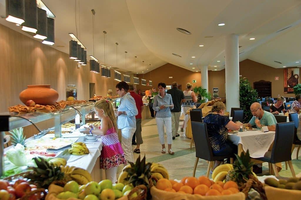 Restaurant van Relaxia Lanzasur Club in Playa Blanca, Lanzarote