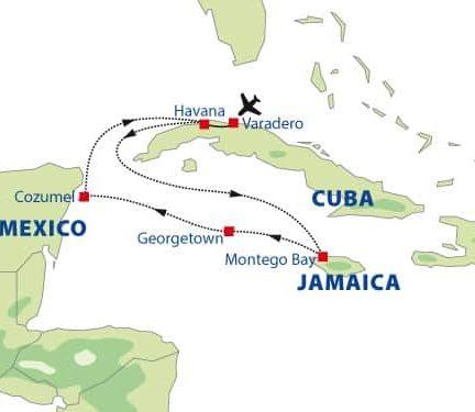 Cruise Cuba en Mexico - Route 1