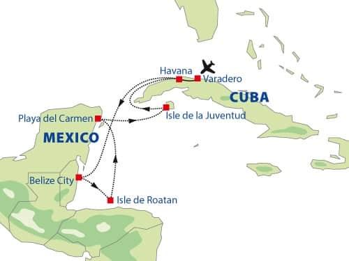 Cruise Cuba en Mexico - Route 3
