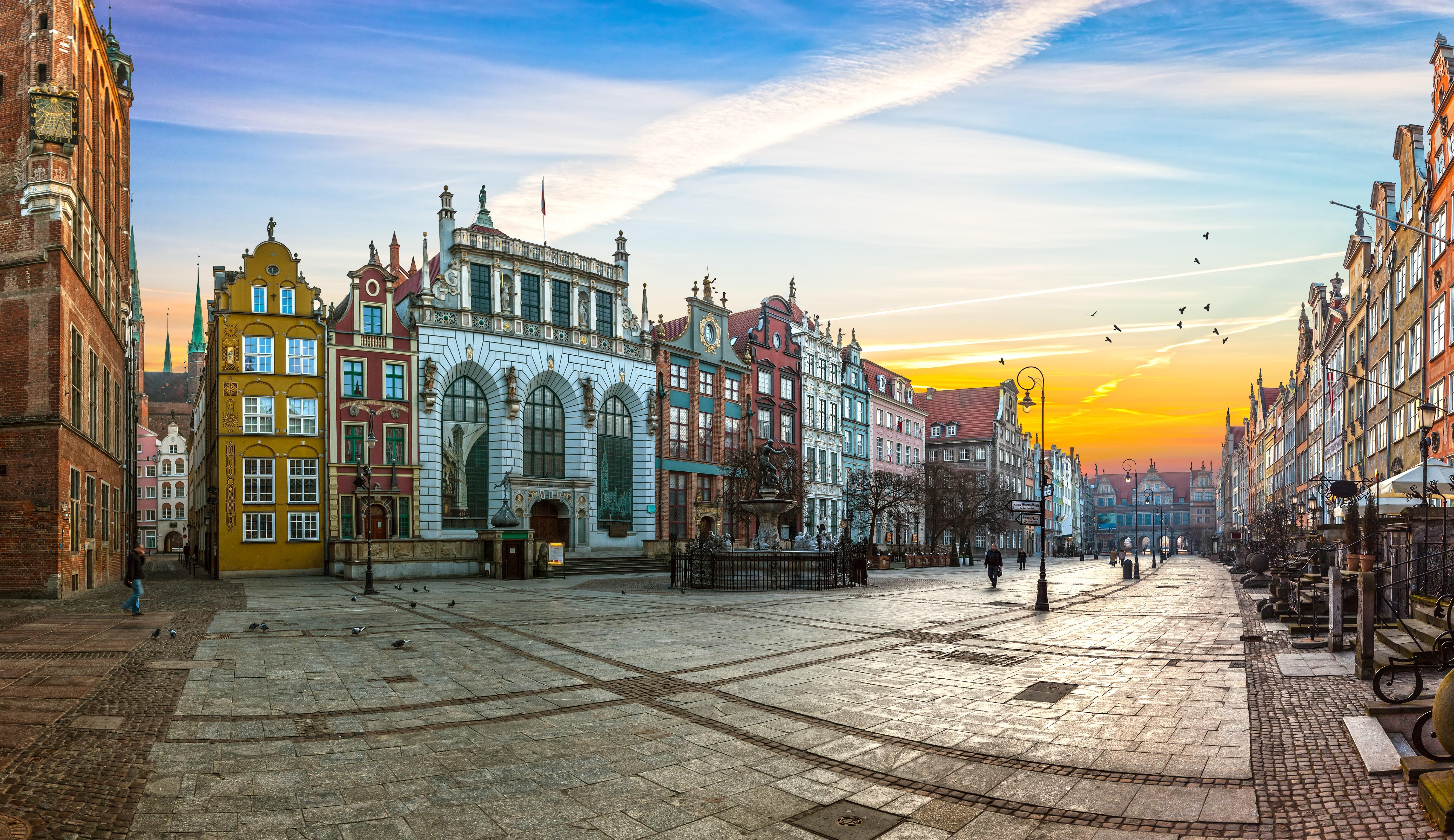 Long Lane straat in Gdansk, Polen