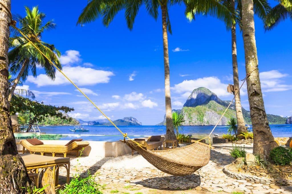 Tropisch strand van El Nido, Filipijnen