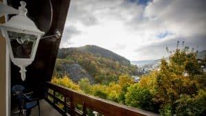 Uitzicht vanuit Berghotel Willingen in Sauerland, Duitsland