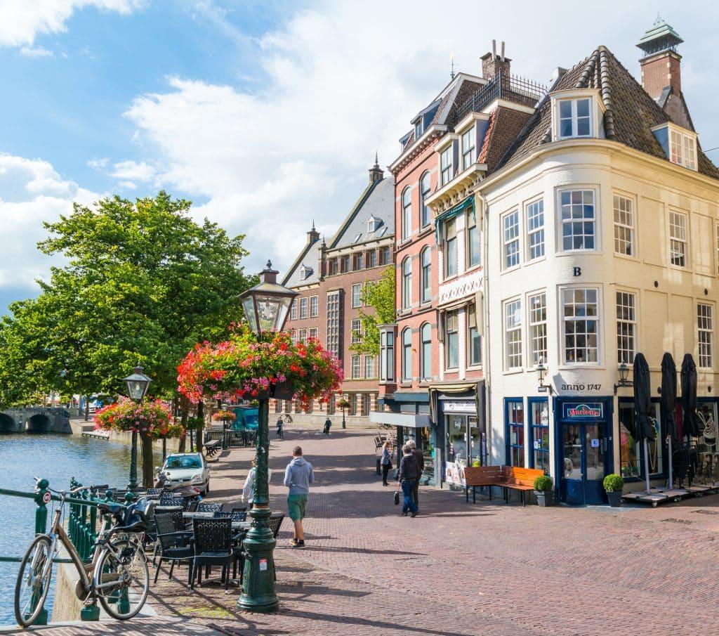 Vismarkt in Leiden, Zuid-Holland