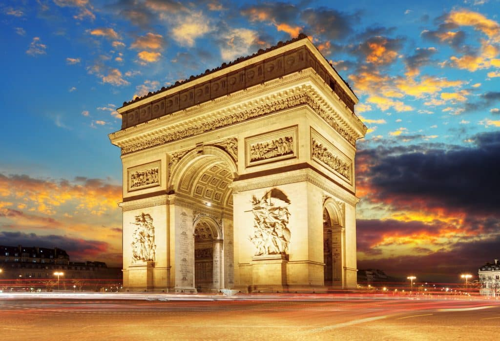 Arc de Triumph in Parijs, Frankrijk