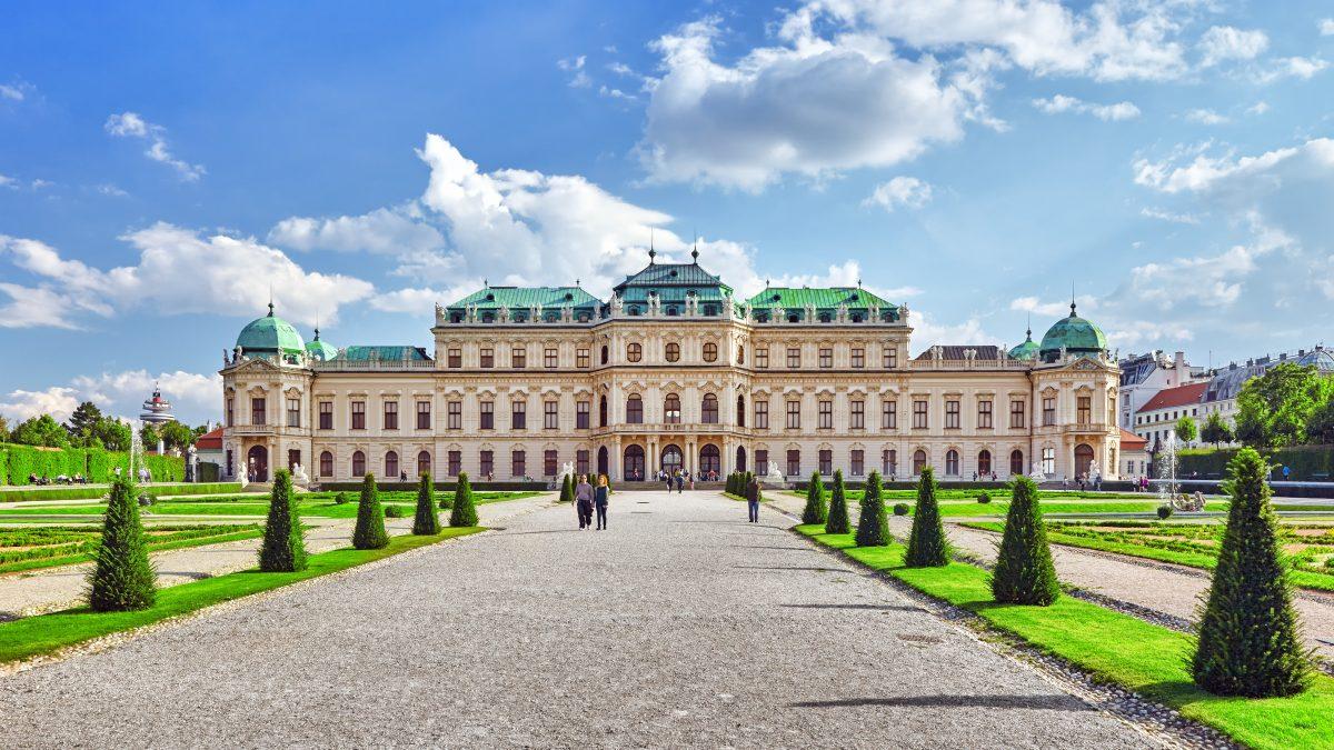 Belvedere paleis in Wenen, Oostenrijk