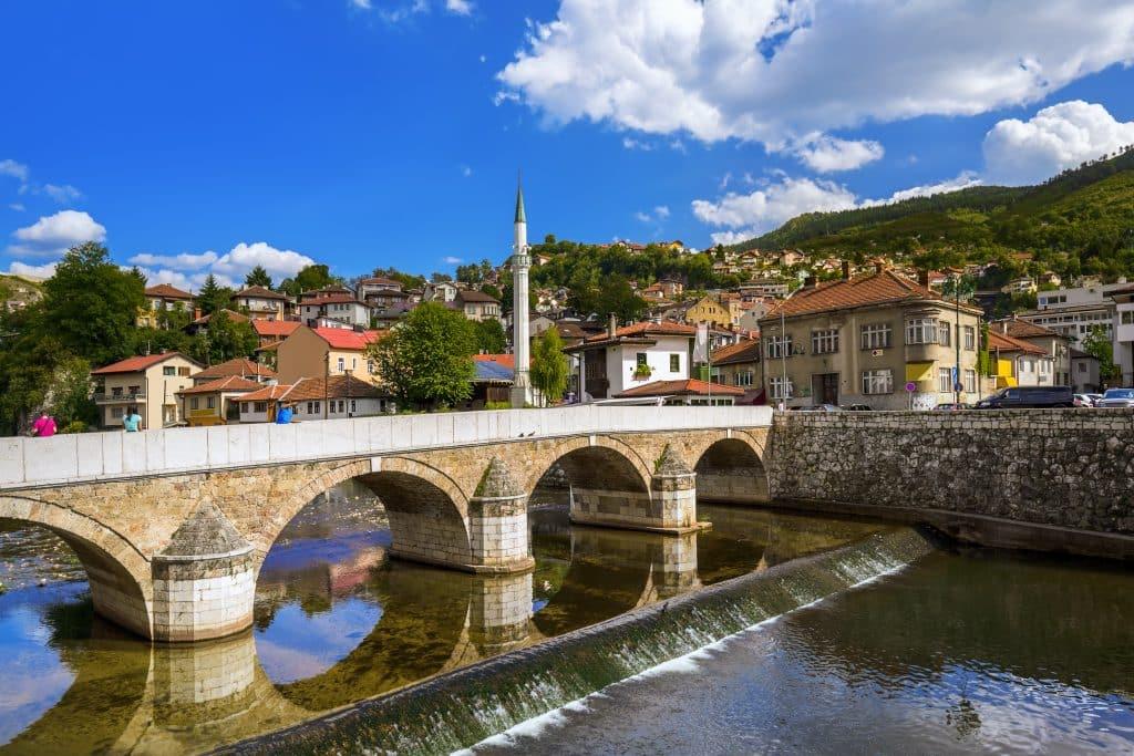 Brug in Sarajevo, Bosnië en Herzegovina
