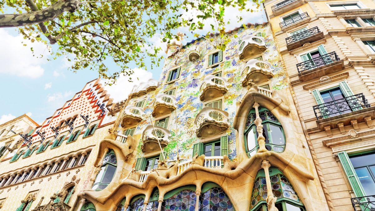 Casa Batllo in Barcelona, Spanje