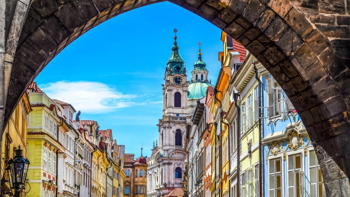Doorkijk in Praag, Tsjechië