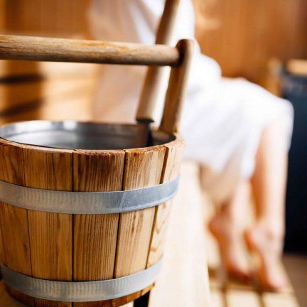 Emmer in de sauna