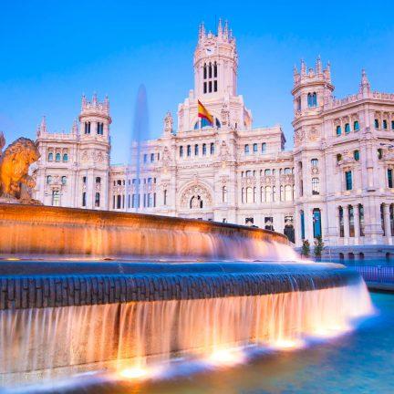 Centrum van Madrid in Spanje