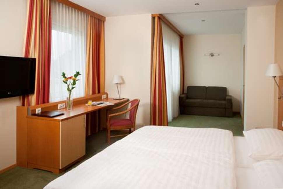 Hotelkamer van Hotel Lucia in Wenen, Oostenrijk