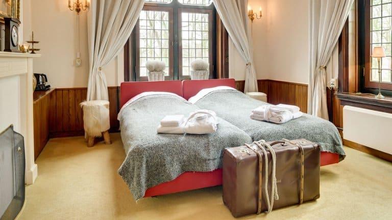 Hotelkamer van Kasteel de Essenburgh in Hierden, Veluwe, Gelderland