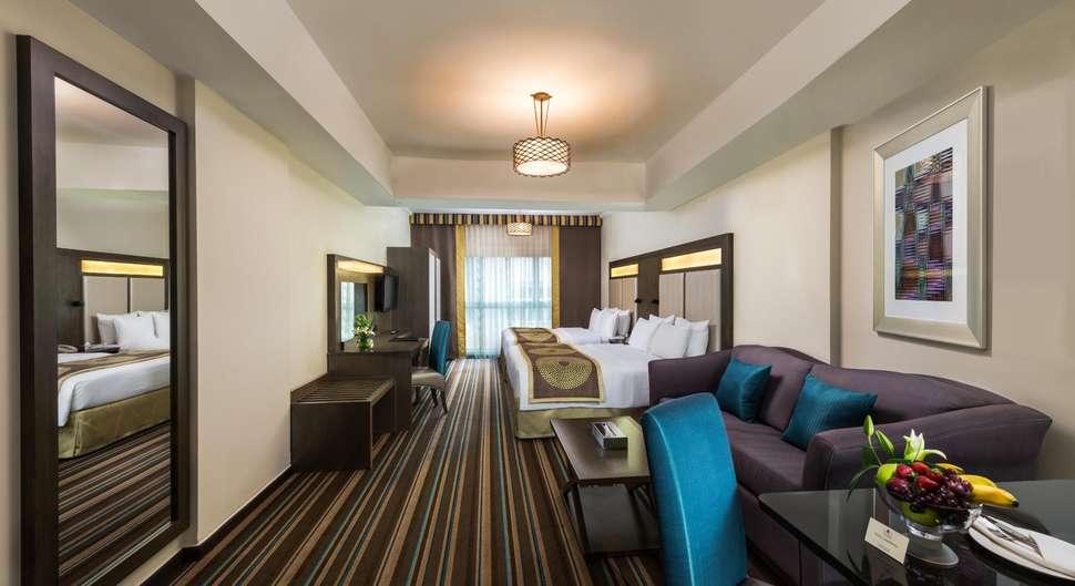 Hotelkamer van Savoy Central Hotel in Dubai, Verenigde Arabische Emiraten