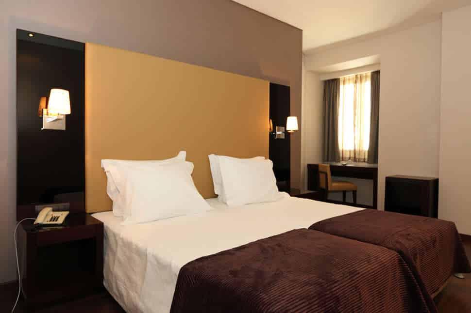 Hotelkamer van Tirum Restauradores Hotel in Lissabon, Portugal