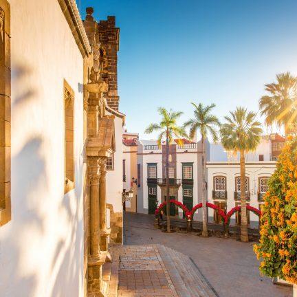 Huisjes in Santa Cruz de la Palma, Canarische Eilanden