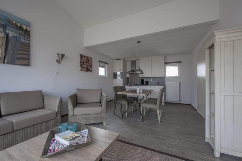 Interieur comfort villa van Strandpark Duynhille in Ouddorp, Zuid-Holland