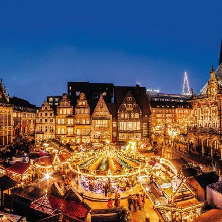 Kerstmarkt in Bremen, Duitsland