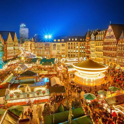 Kerstmarkt in Essen, Duitsland