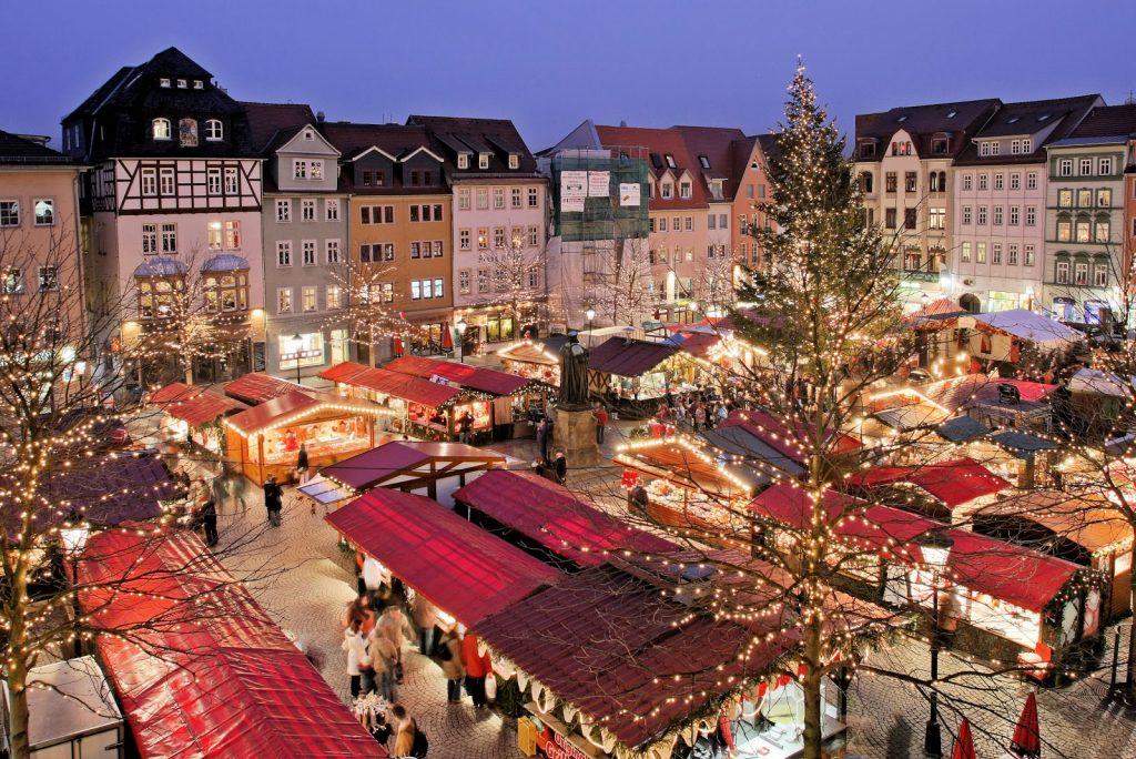 Kerstmarkt in Münster, Duitsland