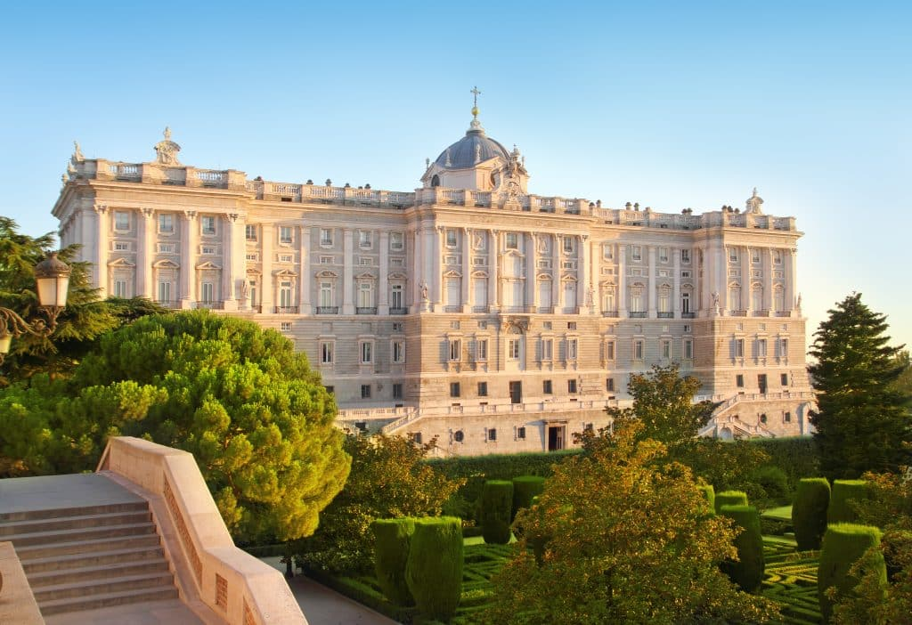 Koninklijk Paleis van Madrid in Spanje