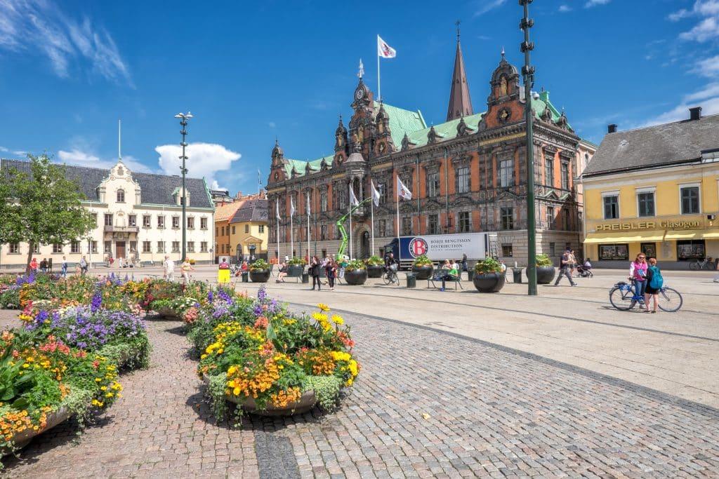 Oud stadhuis in Mälmo, Zweden