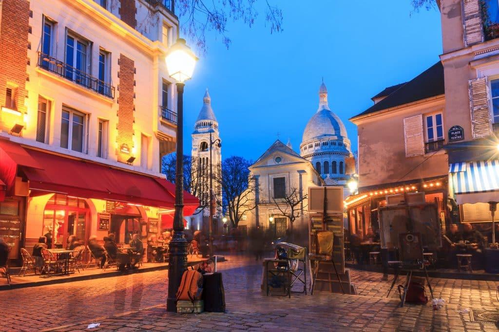 Place du Tertre in Parijs, Frankrijk