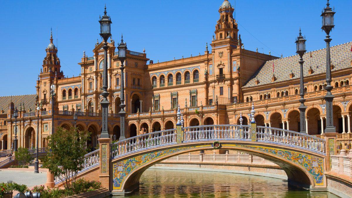 plaza de espana in sevilla spanje 1