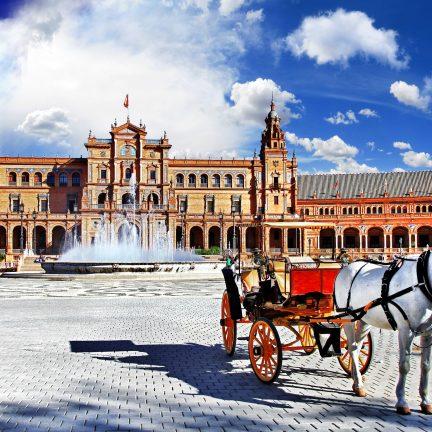 Plaza de Espana in Sevilla, Spanje