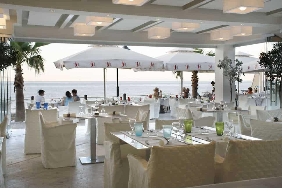 Restaurant van Glaros Beach Hotel in Chersonissos, Griekenland