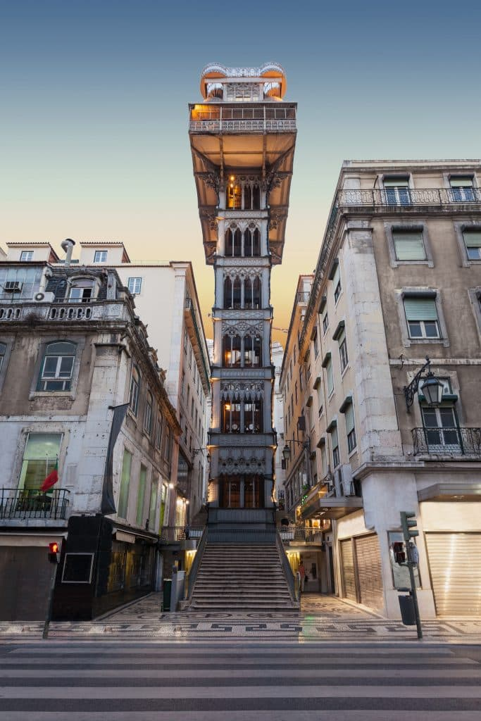 Santa Justa-Lift in Lissabon, Portugal
