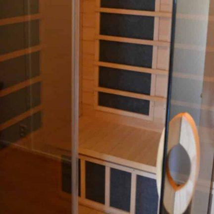 Sauna in villa Tjasker van Villapark de Weerribben in Paasloo, Overijssel