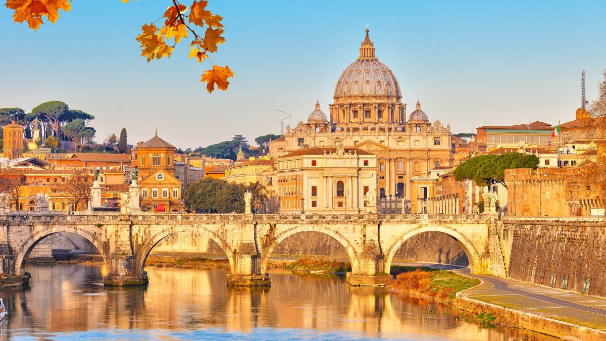 sint pietersbasiliek in rome italie